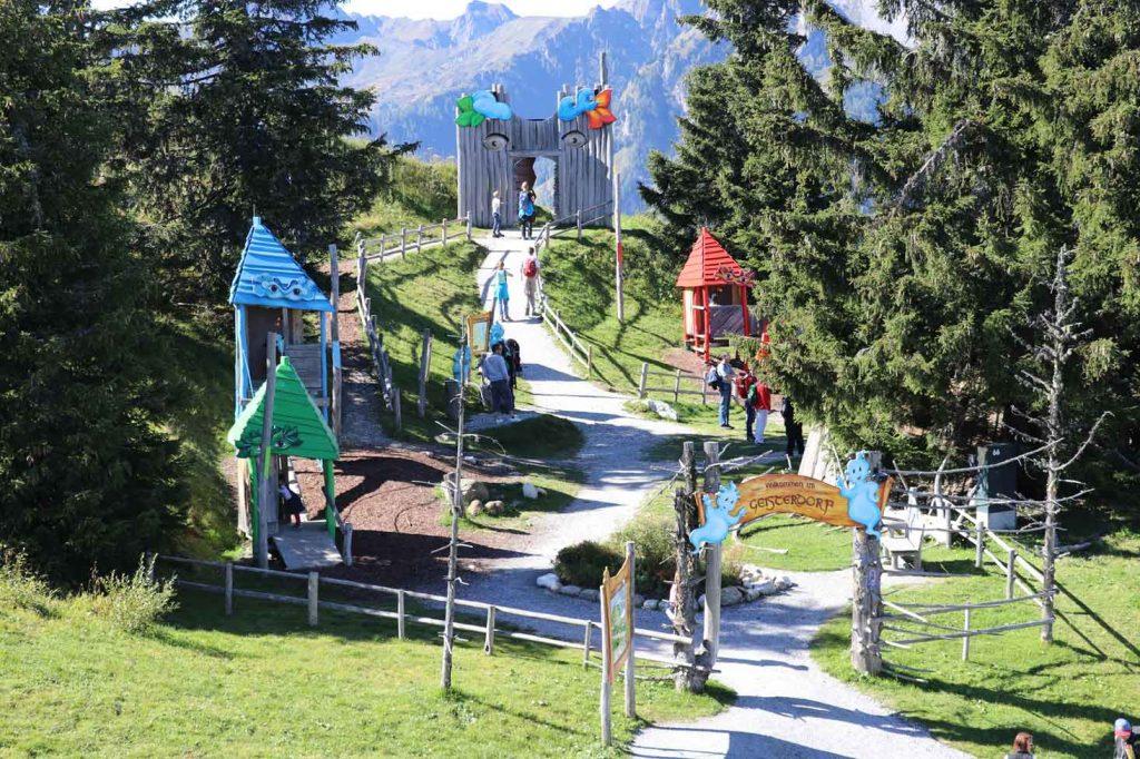 Wandern Alpendorf Geisterberg wandern